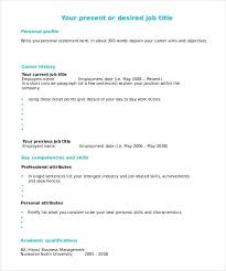 Free Blank Resume Templates Free Blank Template To Fill In With ...