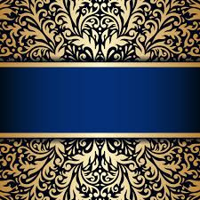 Blue And Gold Design Luxury Blue Background With Ornament Gold Vector 11 Free