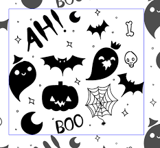 Halloween Pattern Awesome Boofilled Hand Drawn Halloween Pattern Vector Vectips