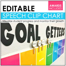 Goal Getters Speech Therapy Clip Chart