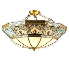 stained glass ceiling light. Tiffany Ceiling Lights Style Stained Glass . Light