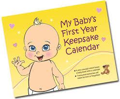 My Baby\u0027s First Year Keepsake Calendar (Model Number: cw1)