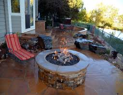 paver patio with gas fire pit. Paver Patio With Natural Gas Fire Pit Two Columns And Sitting Wall Fireplace Direct Vent