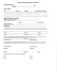 Free Printable Babysitting Information Forms Childcare Reference