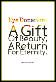 40 Beautiful Eyes Quotes Donate Eye Slogans TheFreshQuotes Amazing Donation Quotes