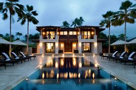 home swimming pools at night. Contemporary Nice Houses Pools Swimming Pool Modern House Home At Night S