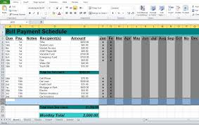 Professional Schedule Template Professional Bill Pay Calendar Template Excel Templates