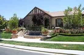 Front Yard Fountain, Front Yard Stairs Front Yard Landscaping The Green  Scene Chatsworth, CA