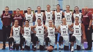 The latvian women basketball team