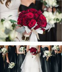 white with crimson red roses