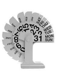 Office Calender Enzo Mari Timor Perpetual Desktop Calendar