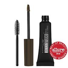 amazon maybelline tattoostudio waterproof eyebrow gel makeup deep brown 0 23 fl oz beauty