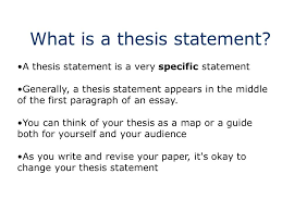the thesis statement a road map for your essay essay introduction what is a thesis statement