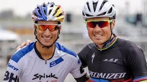 Javier Gómez Noya and Mario Mola for the Super League Triathlon