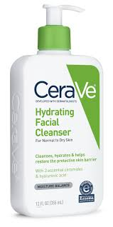 CeraVe Hydrating Facial Cleanser, Daily Face Wash for Dry to ...