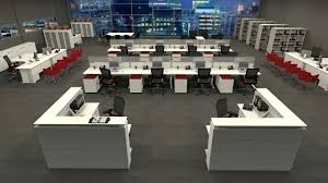 modern workstation design layout for open plan office spaces