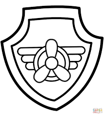 Paw Patrol Skyes Badge Coloring Page And Printable Badges Coloring