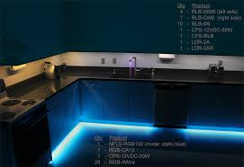 kitchen accent lighting. rgb flexible light strips line under cabinets for accent lighting 03 kitchen