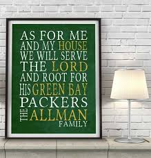 green bay packers personalized as for me art print packers football packers and printing