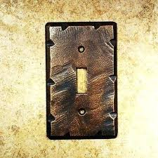 rustic switch plates mission dark copper style wall toggle light plate cover i42