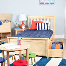 Max & Lily Solid Wood Twin Platform Bed with Under Bed Storage ...