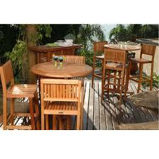 patio bar wood. Ibiza 4-Piece Patio Bar Set Wood 6