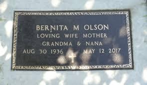 Bernita Mildred Snyder Olson (1936-2017) - Find A Grave Memorial