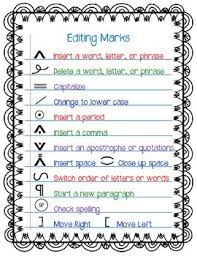Printable Editing Marks Chart Passport To Family Heritage Project Editing Marks