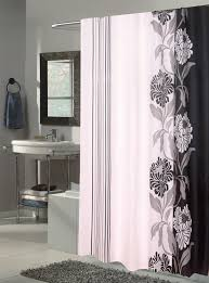 chelsea black white extra long fabric shower curtain