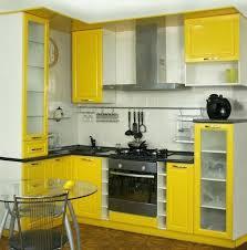 kitchen furniture small kitchen. Space Saving Kitchen Furniture For Small Spaces White And Yellow Cabinets Design Cabinet Designs 2017 H