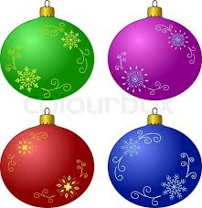 Decorating Christmas Tree With Balls Vector Christmas Tree Decoration Set Glass Balls With Snowflakes 68