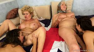 Young on old gay orgy