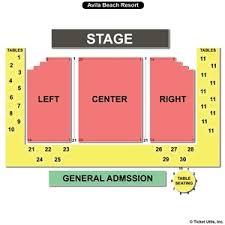 Avila Beach Resort Concert Seating Chart Travel Guide