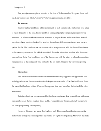 example apa research paper stroop effect research paper example apa style