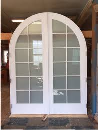 custom wood arched top double french door unit doors65