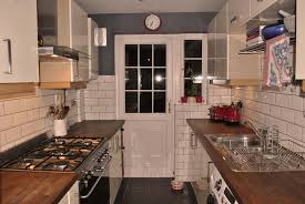 Cream Floor Tiles For Kitchen My Kitchen Cream Gloss Doors And Tiles Wooden Tops And Slate