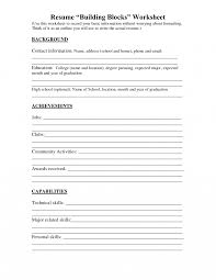 Resumes Fill In The Blank Resumesheet For College Students Resume