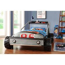 modern kiran silver race car twin size toddler bed