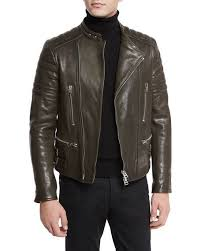 TOM FORD Icon Quilted Leather Biker Jacket &  Adamdwight.com