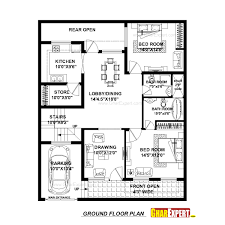 144 Square Feet House Plan For 37 Feet By 45 Feet Plot Plot Size 185 Square Yards