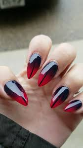 Nail Designs Red Ombre Ombre Red And Black Nail Design Red Nail Designs Ombre
