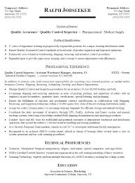 quality control engineer resume sample gallery creawizard com