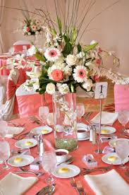 Round Table Decoration Wedding Decoration Ideas Outdoor Coral Wedding Decor Ideas With