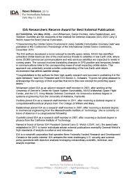 IDA Researchers Receive Award for Best External Publication