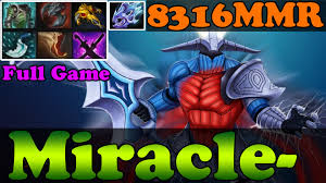dota 2 miracle 8316mmr plays sven full game ranked match