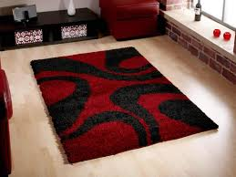 contemporary red rugs and black rugs