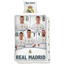 real madrid cf players uk single us twin cotton duvet cover set