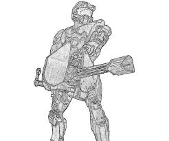 halo 4 john 117 weapon coloring pages
