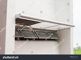 Concrete Window Design Air Ventilatorsmall Window Design On Concrete Stock Photo