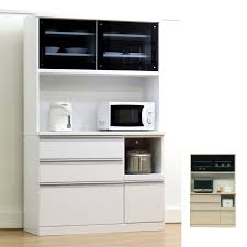 kitchen rack microwave units completed width 120 cm sliding doors white white black black grain wood